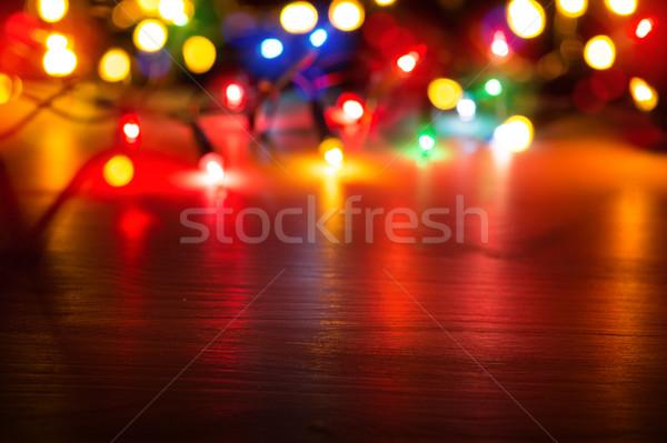 Művészet színes fények piros háttér szépség Stock fotó © Konstanttin