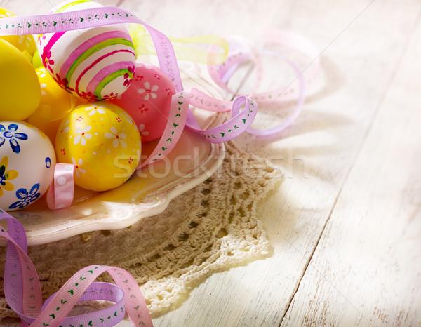 Zdjęcia stock: Wesołych · Świąt · sztuki · Wielkanoc · wiosną · szczęśliwy · pomarańczowy