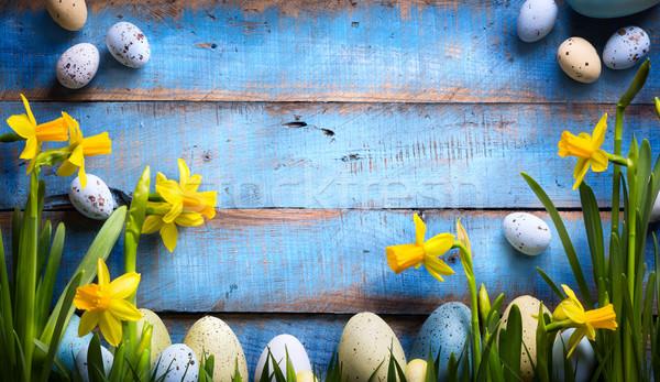 искусства Пасху пасхальных яиц весенние цветы весны Сток-фото © Konstanttin