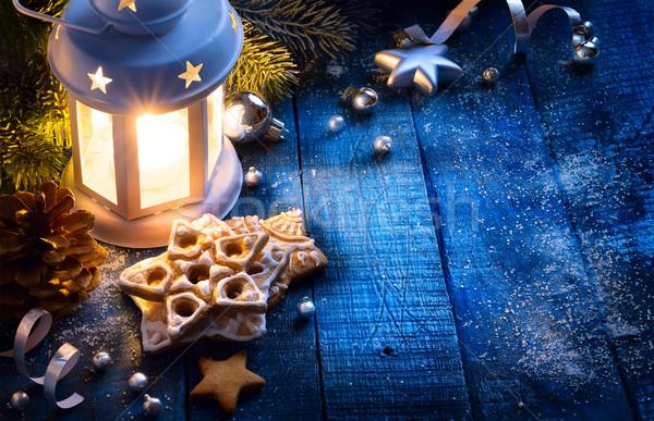 Művészet karácsony fény ünnepi dekoráció terv Stock fotó © Konstanttin