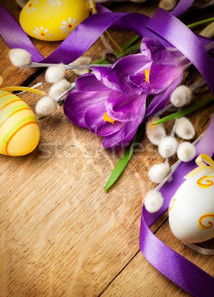 Foto d'archivio: Pasqua · fiori · easter · eggs · design · foglia · uovo