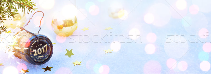 art 2017 Merry Christmas and happy New Years party; header backg Stock photo © Konstanttin