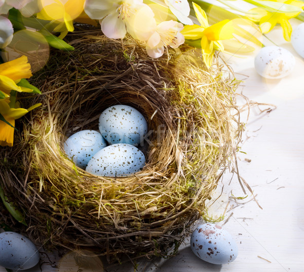 art Easter background with Easter eggs  Stock photo © Konstanttin