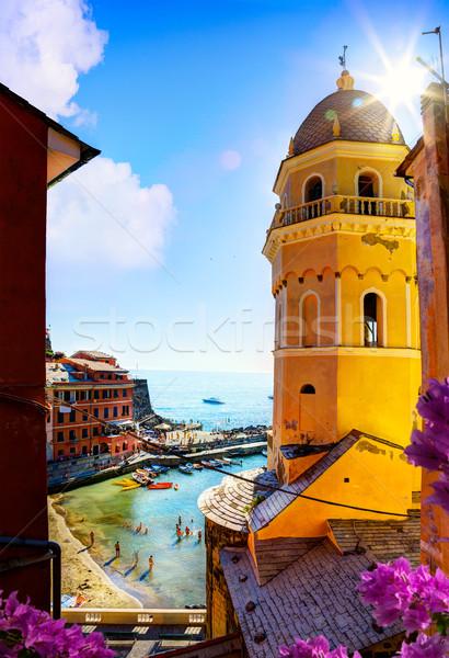 искусства мнение романтические морской пейзаж пять Италия Сток-фото © Konstanttin