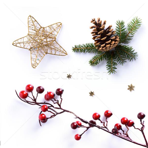Karácsony dísz fehér ünnep dizájn elem Stock fotó © Konstanttin