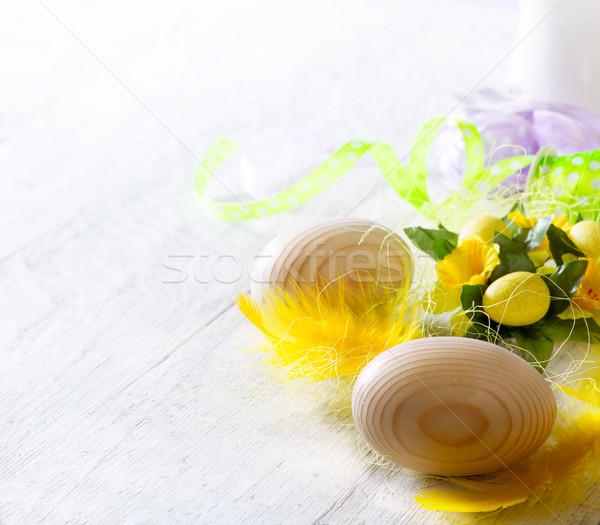 Photo stock: Art · joyeuses · pâques · décoration · heureux · orange · temps
