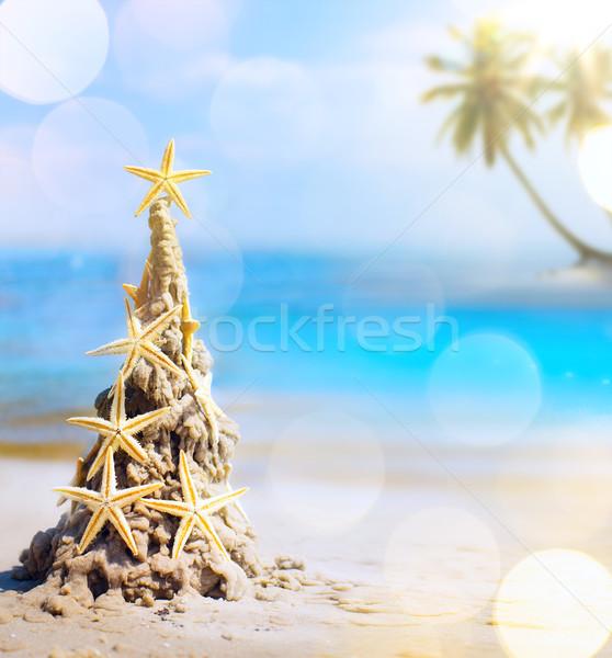 искусства тропические Рождества праздник Карибы праздников Сток-фото © Konstanttin