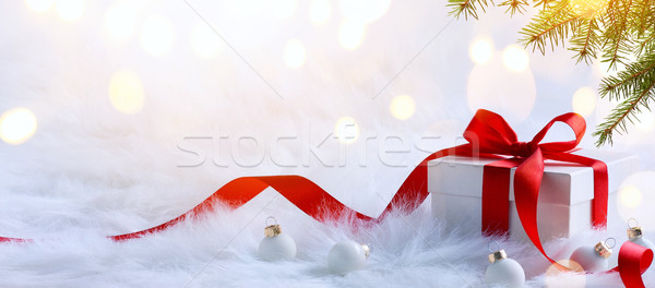 Christmas holidays composition on light background with copy spa Stock photo © Konstanttin