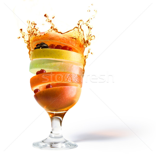 Stock photo: spring fruit cocktail and fruit juice vitamin