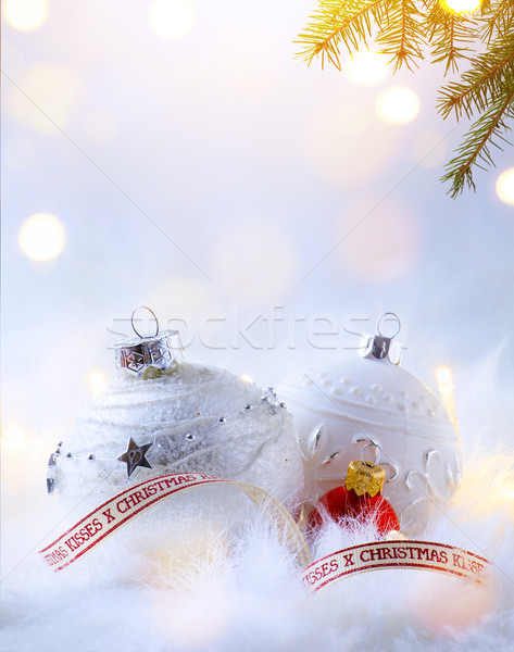Művészet karácsony ünnepek buli dekoráció karácsonyfa Stock fotó © Konstanttin