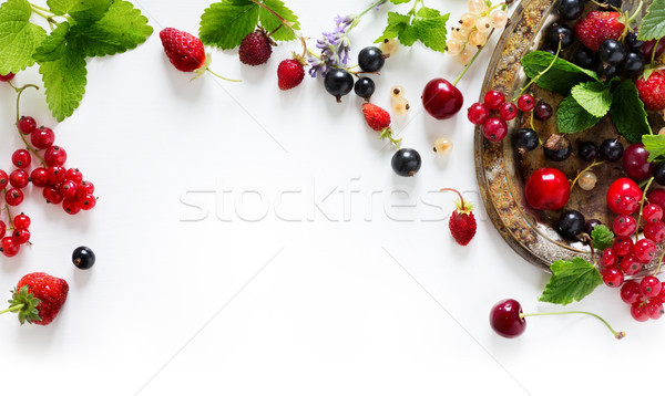 sweet summer fresh juice fruit background; summer food Stock photo © Konstanttin