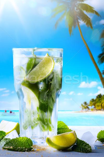 Arte férias de verão exótico bebidas borrão Foto stock © Konstanttin