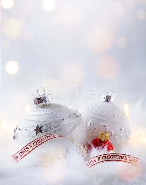 art Christmas holidays party background with holidays decoration Stock photo © Konstanttin