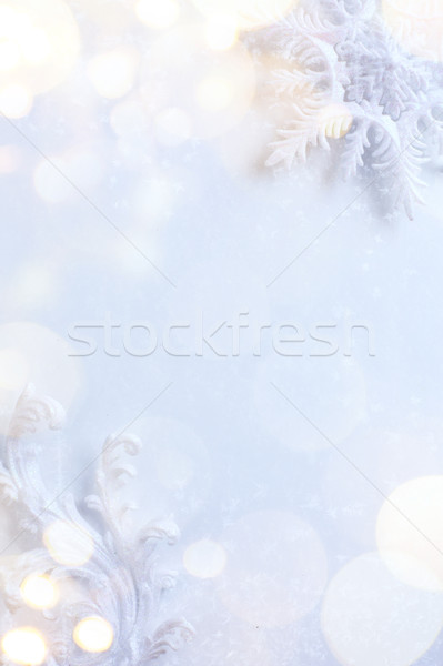 Művészet karácsony ünnepek fények fény háttér Stock fotó © Konstanttin
