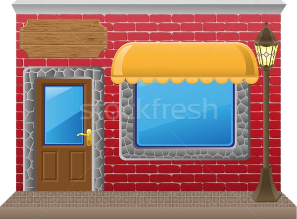 shop facade with a showcase Stock photo © konturvid