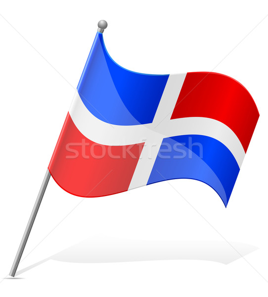 flag of Dominicana vector illustration Stock photo © konturvid