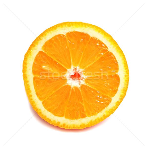 Stock fotó: Narancs · érett · részleg · izolált · fehér · természet