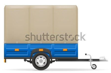 car trailer for the transportation of goods vector illustration Stock photo © konturvid