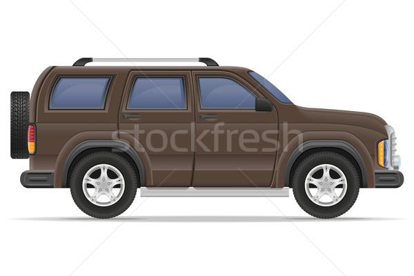 Suv carro isolado branco porta metal Foto stock © konturvid