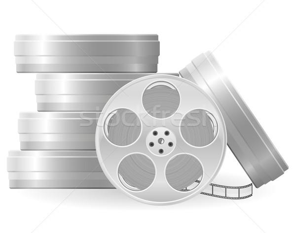 Stock photo: movie reel vector illustration