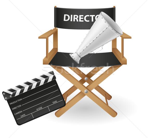 Szett ikonok filmezés mozi film izolált Stock fotó © konturvid