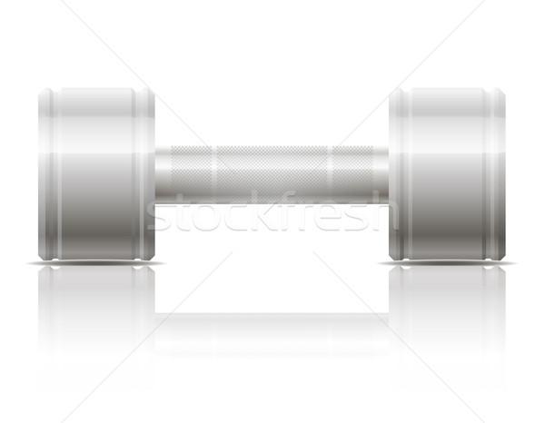 Stock fotó: Súlyzó · sportok · izolált · fehér · kéz · sport