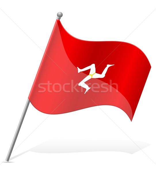 flag Isle of Man vector illustration Stock photo © konturvid