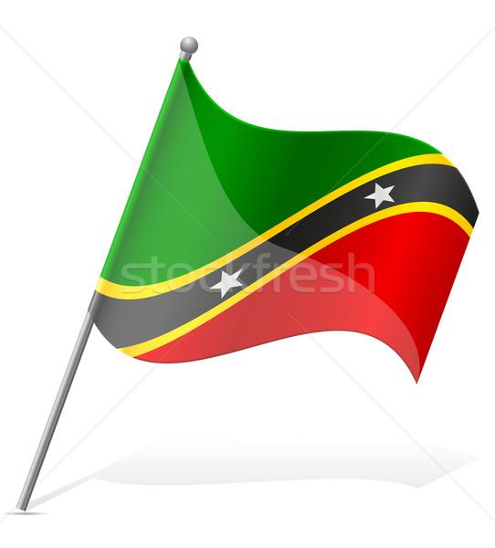 flag of Saint Kitts and Nevis vector illustration Stock photo © konturvid