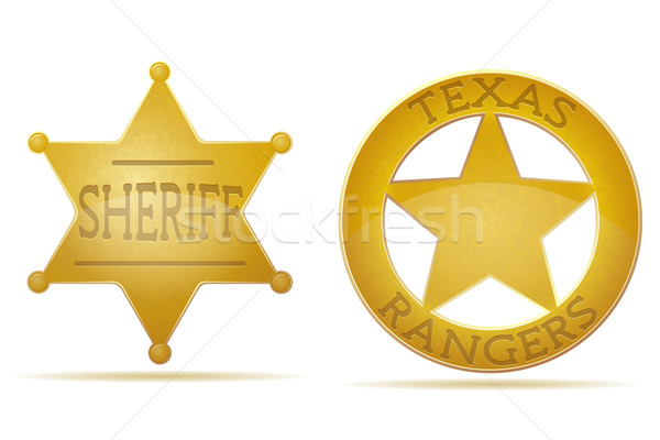 star sheriff and ranger vector illustration Stock photo © konturvid