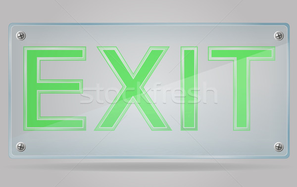 transparent sign exit on the plate vector illustration Stock photo © konturvid