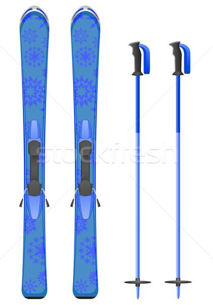 skis mountain vector illustration Stock photo © konturvid