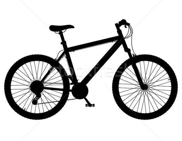 mountain bike with gear shifting black silhouette vector illustr Stock photo © konturvid