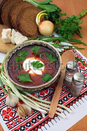 ukrainian borsch Stock photo © konturvid