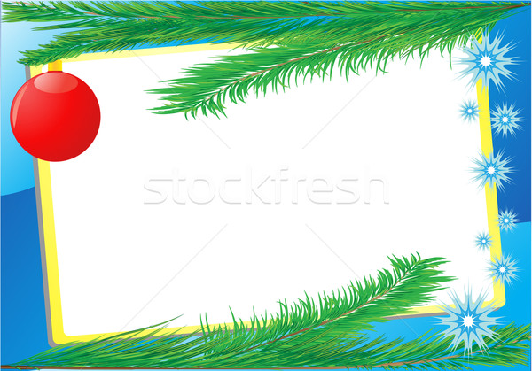 frame branch fir-tree Stock photo © konturvid