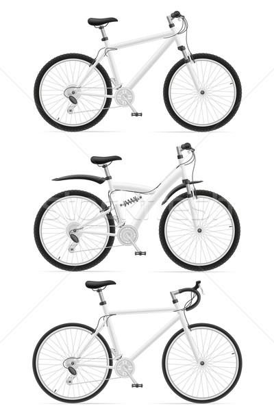 set icons sports bikes with the rear shock absorber vector illus Stock photo © konturvid