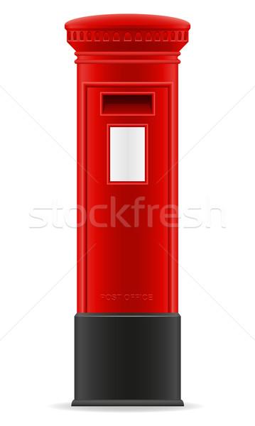 Londen Rood brievenbus geïsoleerd witte business Stockfoto © konturvid