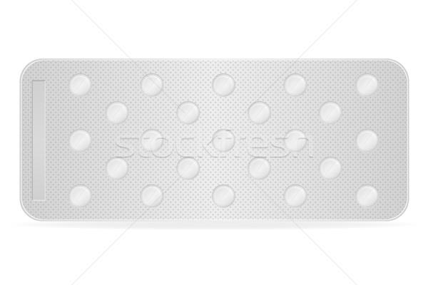 medical pills for treatment vector illustration Stock photo © konturvid
