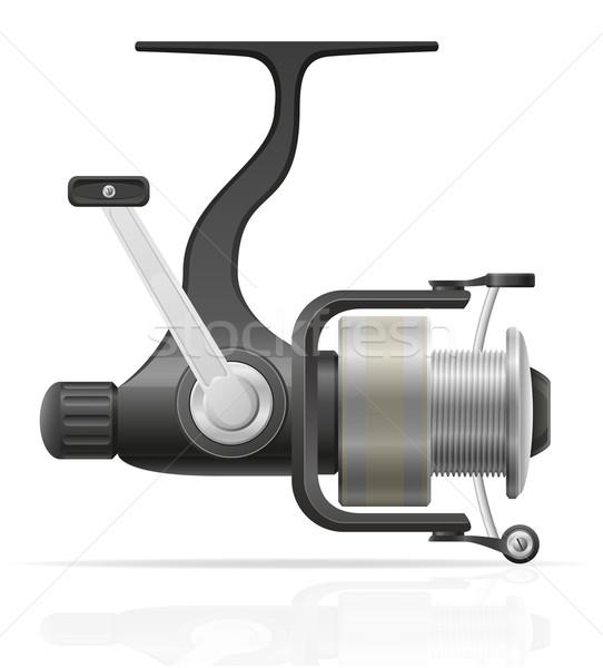 spinning reel for fishing vector illustration Stock photo © konturvid