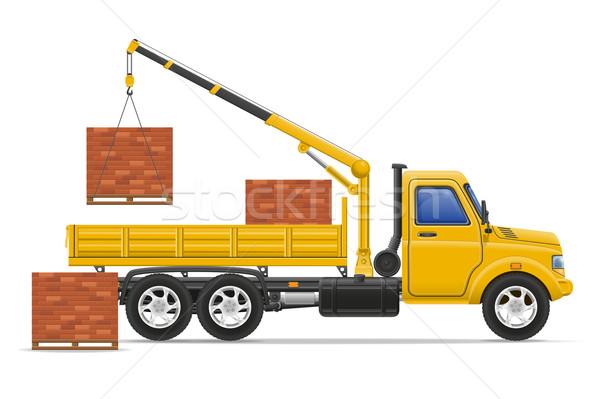 Vracht vrachtwagen levering vervoer bouw materiaal Stockfoto © konturvid