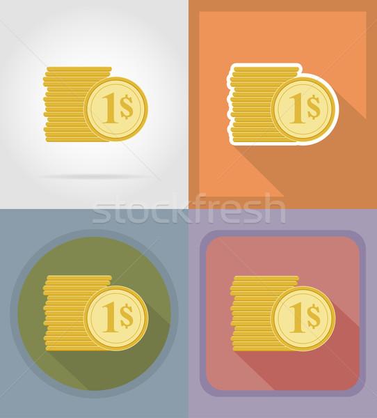 казино объекты оборудование иконки иллюстрация изолированный Сток-фото © konturvid