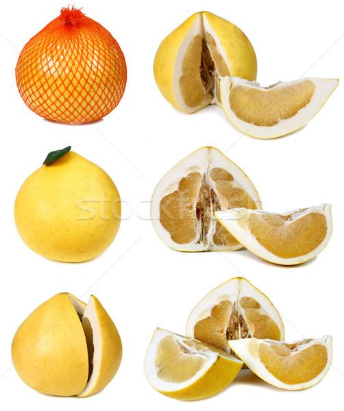 Grapefruit geïsoleerd witte achtergrond Geel zoete Stockfoto © konturvid
