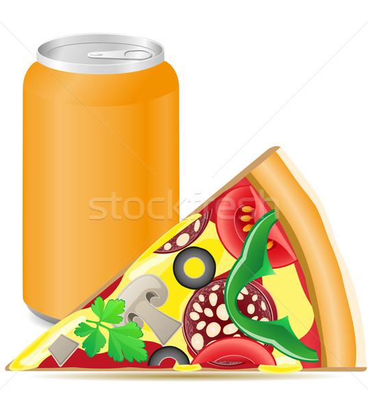 Pizza alluminio soda alimentare ghiaccio mangiare Foto d'archivio © konturvid