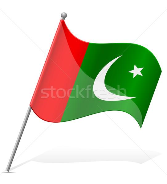 Zászló Pakisztán izolált fehér világ Föld Stock fotó © konturvid