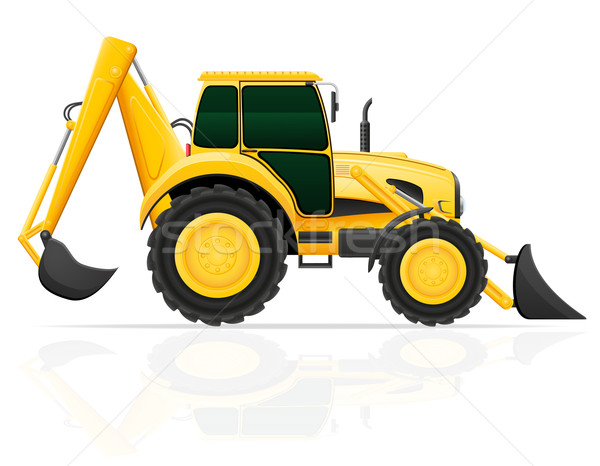 tractor with bucket front and rear vector illustration Stock photo © konturvid