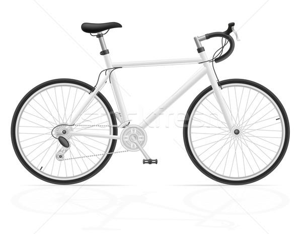 road bike with gear shifting vector illustration Stock photo © konturvid