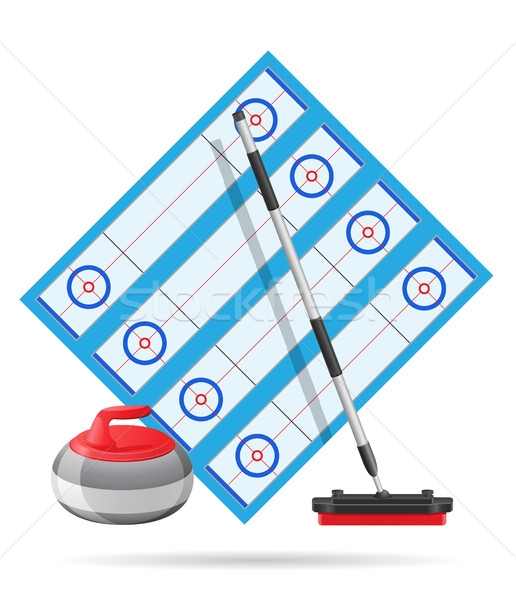 playground for curling sport game vector illustration Stock photo © konturvid
