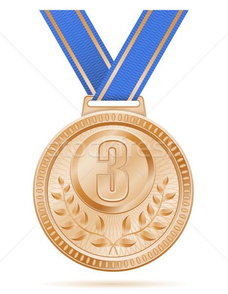 Stock photo: medal winner sport bronze stock vector illustration