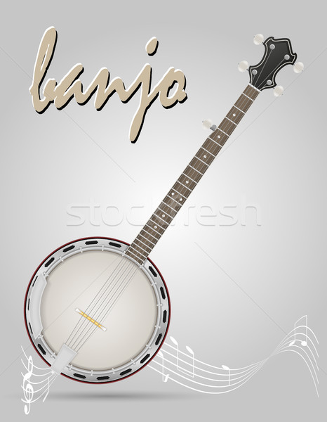 banjo musical instruments stock vector illustration Stock photo © konturvid