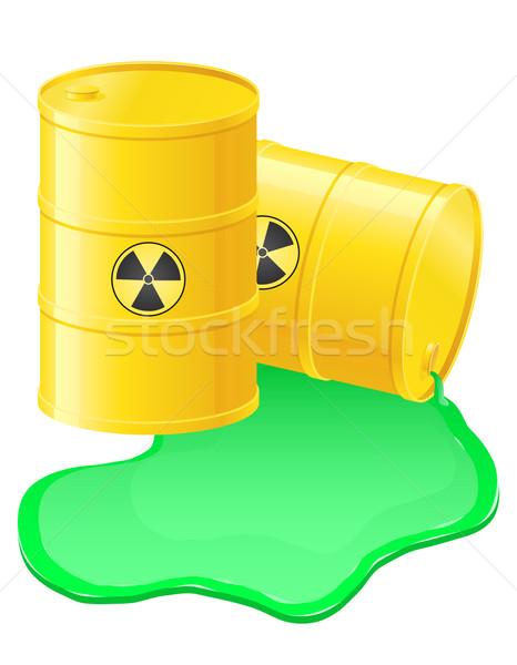 yellow barrels spilled radioactive waste vector illustration Stock photo © konturvid