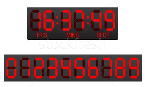 スコアボード デジタル カウントダウン タイマー 孤立した 白 ストックフォト © konturvid